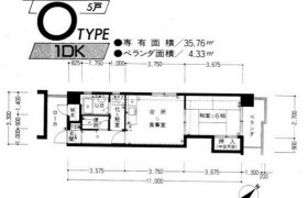 福岡市中央区 薬院 1DK {building type}