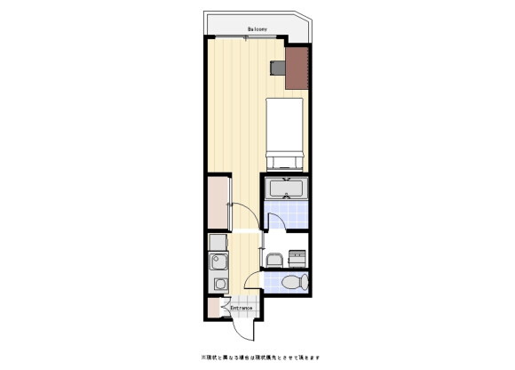 1K Apartment to Rent in Chiyoda-ku Floorplan