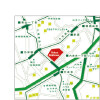 2LDK Apartment to Rent in Minato-ku Access Map