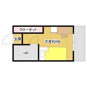 1R Mansion in Muromi - Fukuoka-shi Sawara-ku Floorplan