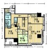 3LDK Apartment to Rent in Chiyoda-ku Floorplan