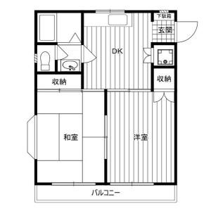 2DK Mansion in Kobuchi - Sagamihara-shi Minami-ku Floorplan