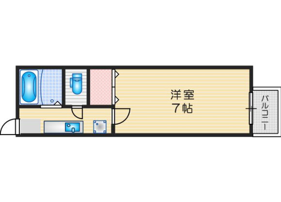 1K Apartment to Rent in Mino-shi Floorplan