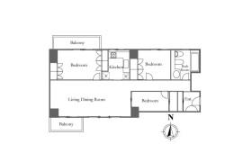 港区 - 西麻布 简易式公寓 3LDK