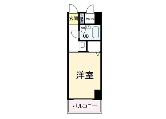 1R Apartment to Buy in Osaka-shi Fukushima-ku Floorplan