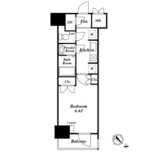 1K Mansion in Komagome - Toshima-ku Floorplan