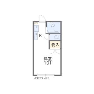 1K Apartment in Tamatsucho nishigawara - Kobe-shi Nishi-ku Floorplan