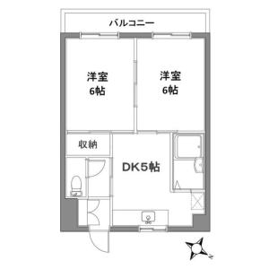 2DK Mansion in Kodai - Kawasaki-shi Miyamae-ku Floorplan