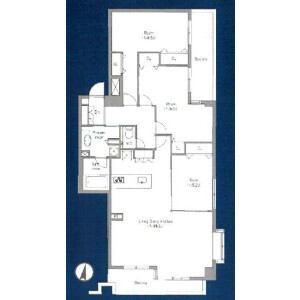 3LDK {building type} in Honcho - Nakano-ku Floorplan