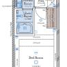 1K Apartment to Buy in Shinjuku-ku Floorplan