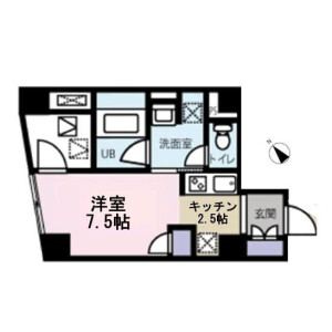 1K Mansion in Nihombashinakasu - Chuo-ku Floorplan