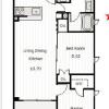 2LDK Apartment to Rent in Koto-ku Floorplan