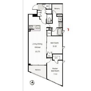 2LDK Mansion in Minamisuna - Koto-ku Floorplan