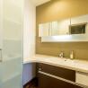 1LDK Serviced Apartment to Rent in Osaka-shi Fukushima-ku Washroom