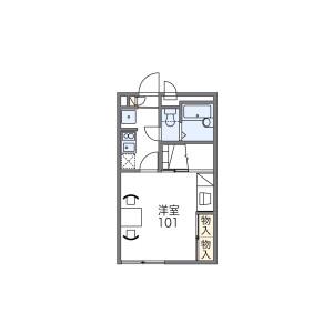 1K Apartment in Nishiokamoto - Kobe-shi Higashinada-ku Floorplan