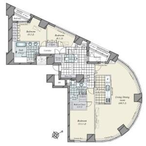 3LDK {building type} in Minamiaoyama - Minato-ku Floorplan