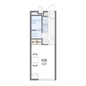1K Apartment in Kotohira - Kumamoto-shi Floorplan