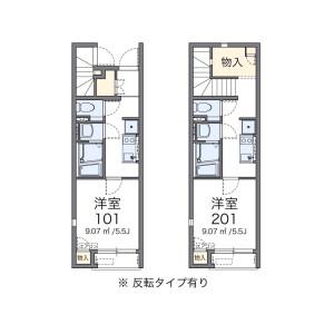 1K Apartment in Koyanagicho - Fuchu-shi Floorplan