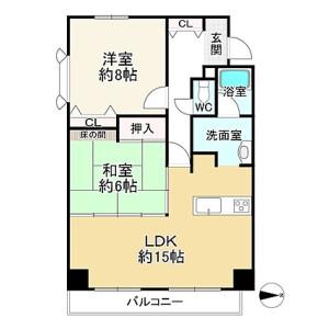 2LDK {building type} in Ryusuicho - Kyoto-shi Nakagyo-ku Floorplan