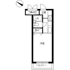 1R Mansion in Mukaigaoka - Kawasaki-shi Takatsu-ku Floorplan
