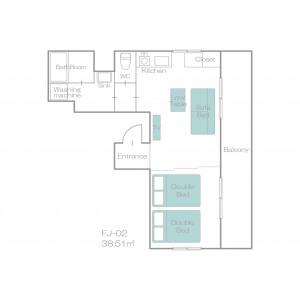 1R Mansion in Nozato - Osaka-shi Nishiyodogawa-ku Floorplan