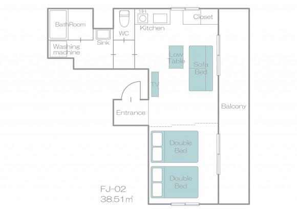 1R Apartment to Rent in Osaka-shi Nishiyodogawa-ku Floorplan