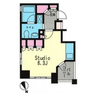 1R Mansion in Hiroo - Shibuya-ku Floorplan