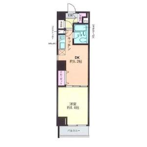 1DK Mansion in Shirokanedai - Minato-ku Floorplan