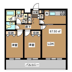 2LDK Mansion in Seta - Setagaya-ku Floorplan
