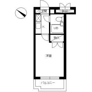 1K Mansion in Sagamidai - Sagamihara-shi Minami-ku Floorplan