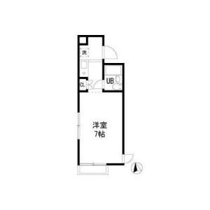 1R Mansion in Kokuryocho - Chofu-shi Floorplan