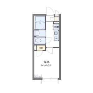 板橋區高島平-1K公寓 房間格局
