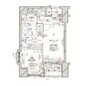 1DK Apartment in Sakuragaokacho - Shibuya-ku Floorplan