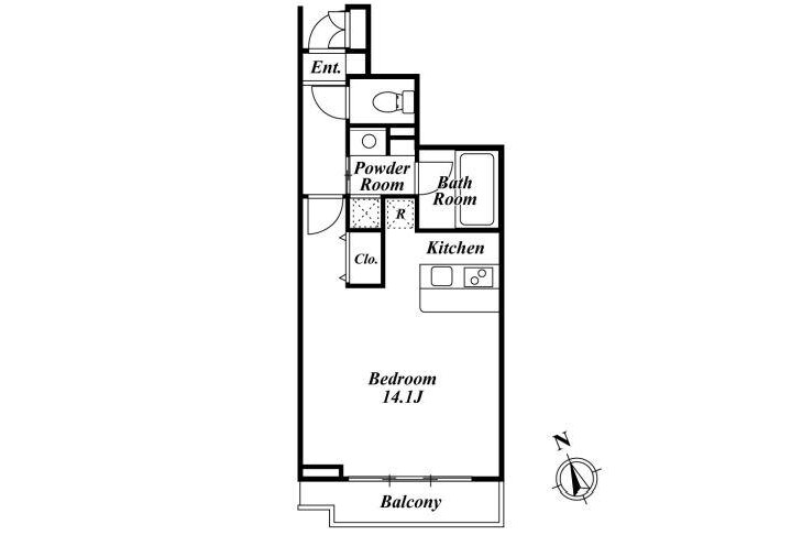 1R 맨션 to Rent in 미나토쿠(港区) Floorplan