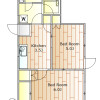 2K Apartment to Rent in Meguro-ku Floorplan
