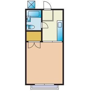 1R Apartment in Hirayama - Hino-shi Floorplan