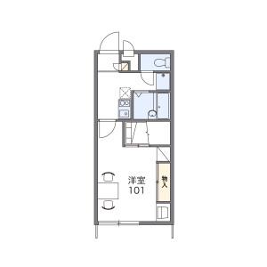 1K Apartment in Koga - Chikushino-shi Floorplan