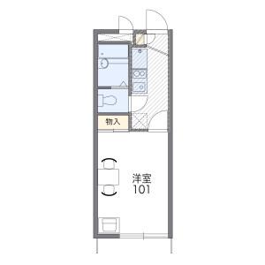 1K Apartment in Wakamatsucho - Fuchu-shi Floorplan