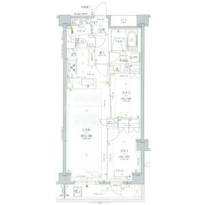 涩谷区広尾-2LDK公寓大厦 楼层布局