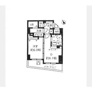 1DK Mansion in Nampeidaicho - Shibuya-ku Floorplan