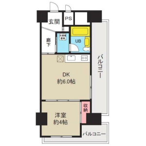 1DK Apartment in Kaminoge - Setagaya-ku Floorplan