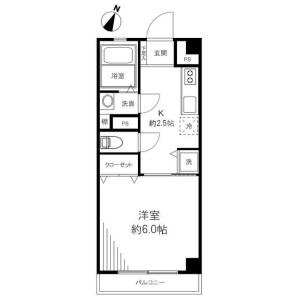 1K {building type} in Ebisunishi - Shibuya-ku Floorplan