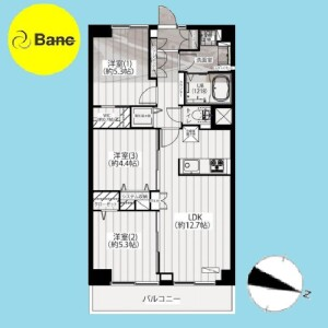 3LDK {building type} in Kamishakujii - Nerima-ku Floorplan