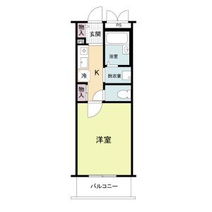 1K Mansion in Hoshin - Osaka-shi Higashiyodogawa-ku Floorplan