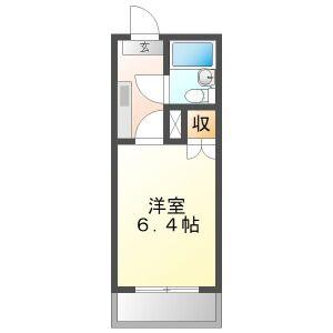各務原市那加東亜町-1K公寓大厦 楼层布局