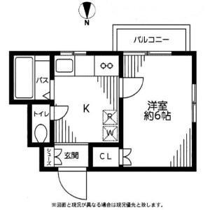 世田谷区桜新町-1K公寓 楼层布局