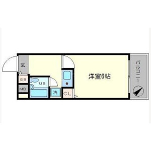 1K Apartment in Motomachi - Osaka-shi Naniwa-ku Floorplan