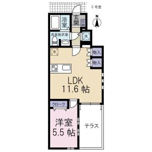 1LDK Mansion in Kugahara - Ota-ku Floorplan