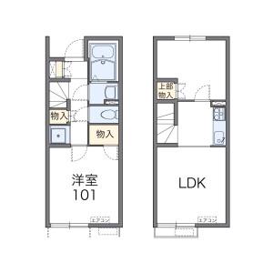 2LDK Apartment in Fukushomachi - Yatsushiro-shi Floorplan