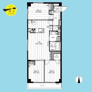 3LDK {building type} in Sakurashimmachi - Setagaya-ku Floorplan
